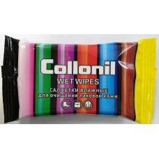 WL15 Салфетки влажные для лаковой кожи Collonil