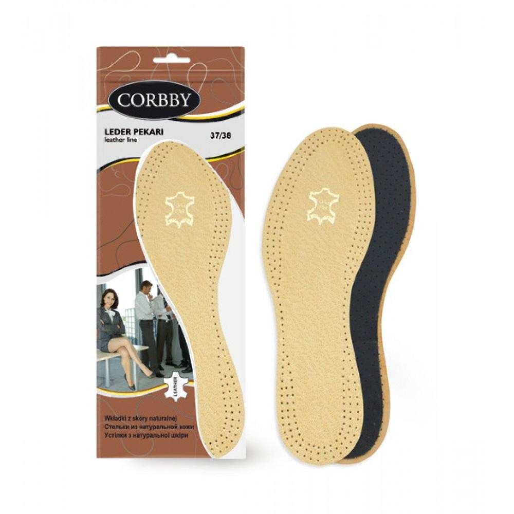 Стельки кожаные Leder Pekari для модельной обуви, размеры в наличии