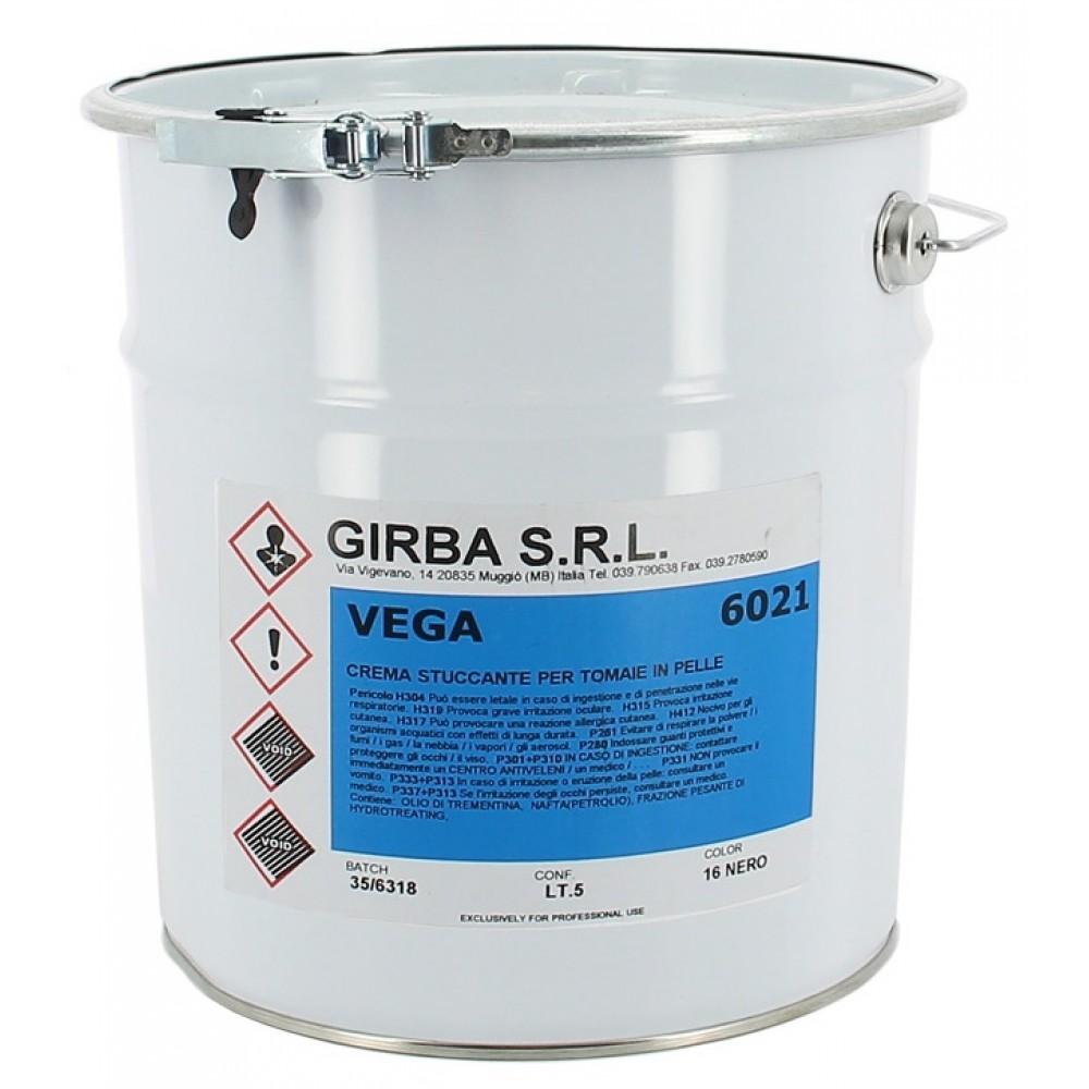 6021-5 Крем для отделки гладкой кожи Girba Vega, 5 Литров