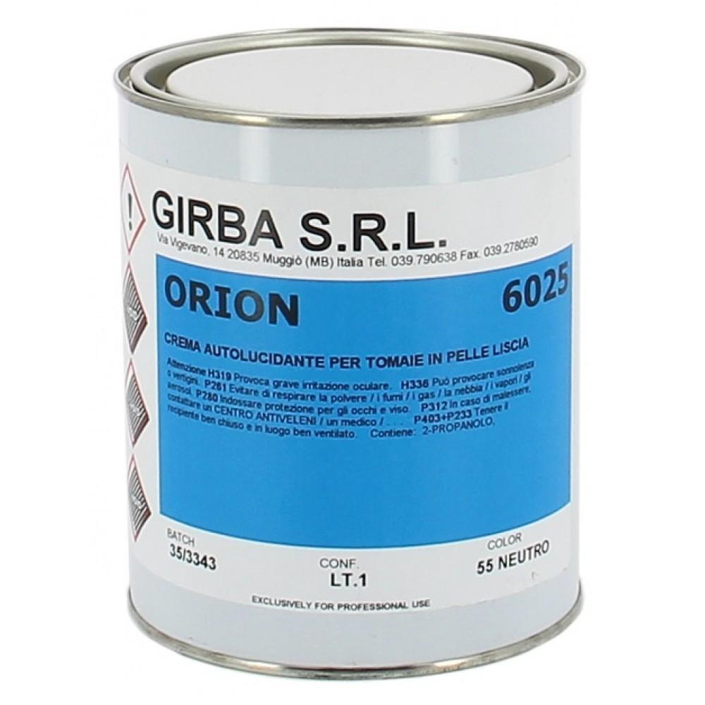6025 Крем-самоблеск для обработки и отделки гладкой кожи Girba Orion