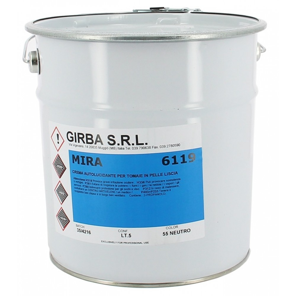 6119 Самополирующийся крем для кожаного верха Girba Mira