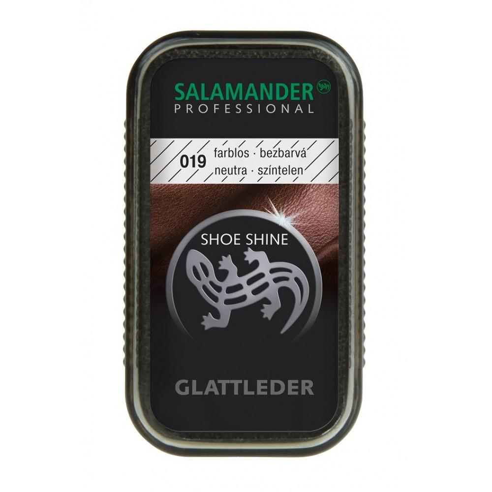 Мини-губка для гладкой кожи, бесцветная, Shoe Shine Salamander Professional