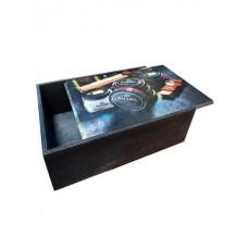 2517 Короб для обувной косметики, деревянный