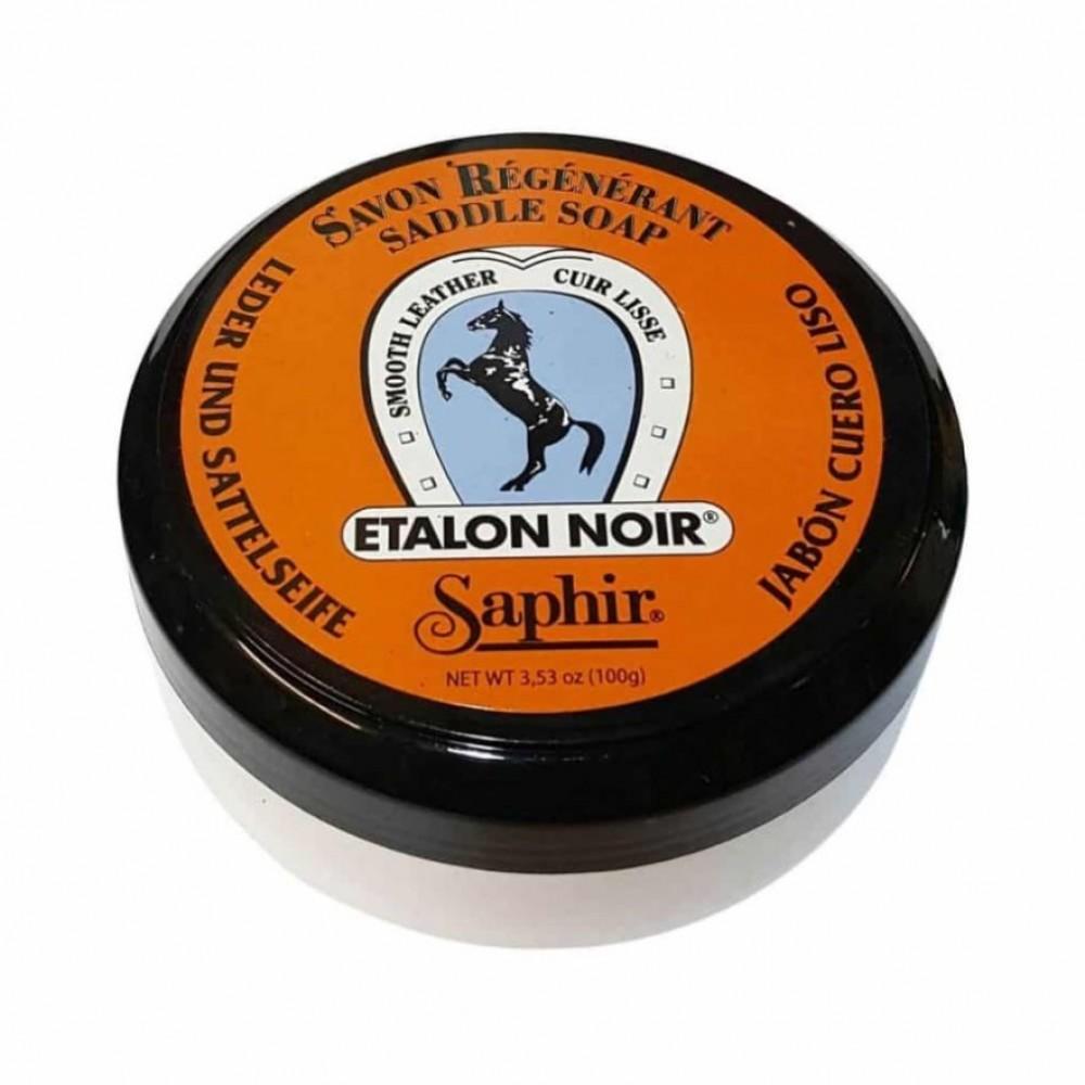 0504 Очиститель мыло для гладкой кожи Saphir Etalon Noir Saddle Soap