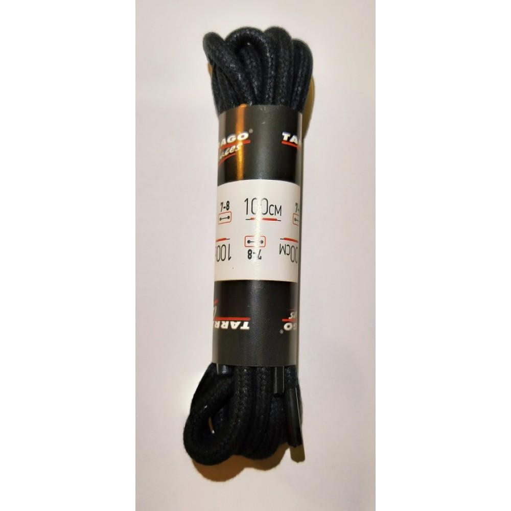 Шнурки 100 см, Круглые толстые с пропиткой Tarrago (2 цвета)