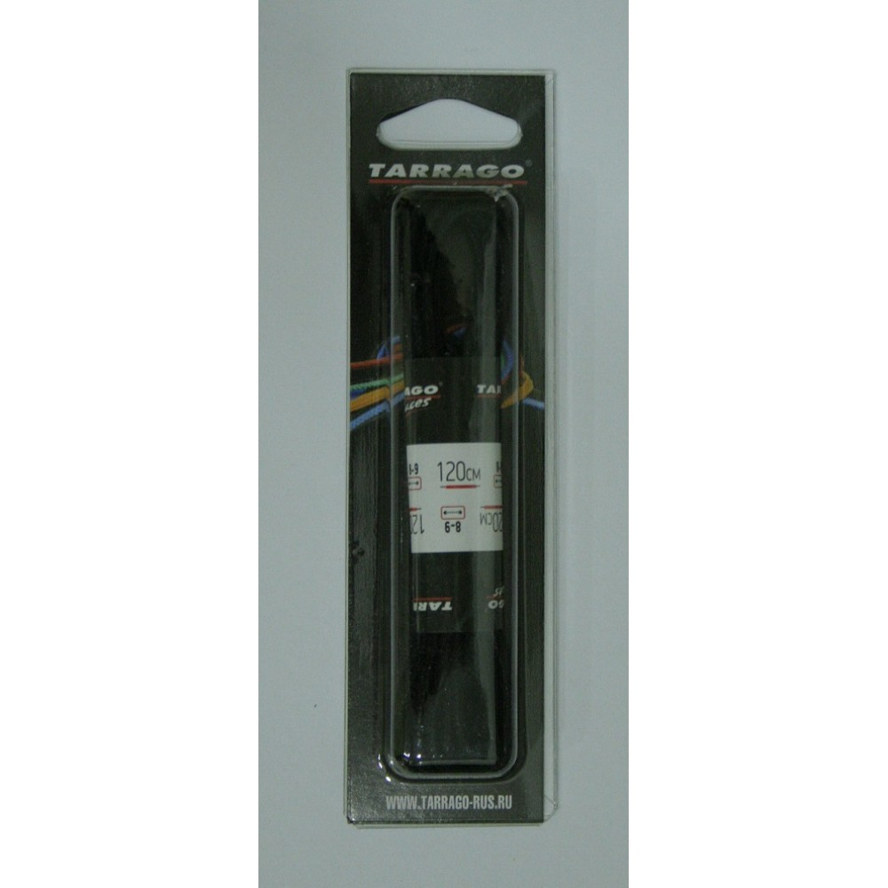 Шнурки 120 см, Круглые тонкие с пропиткой Tarrago (2 цвета)