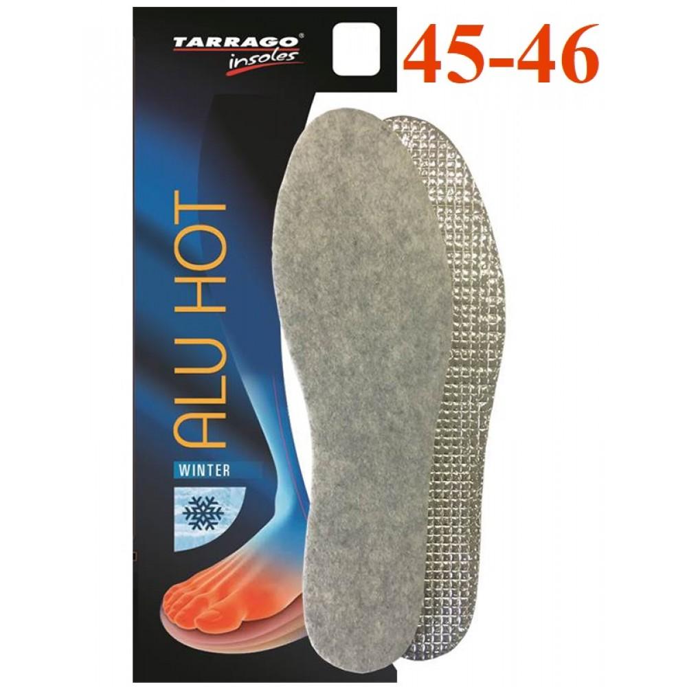 IW1273 Стельки из войлока и алюминиевой фольги Tarrago Alu Hot, размерный ряд