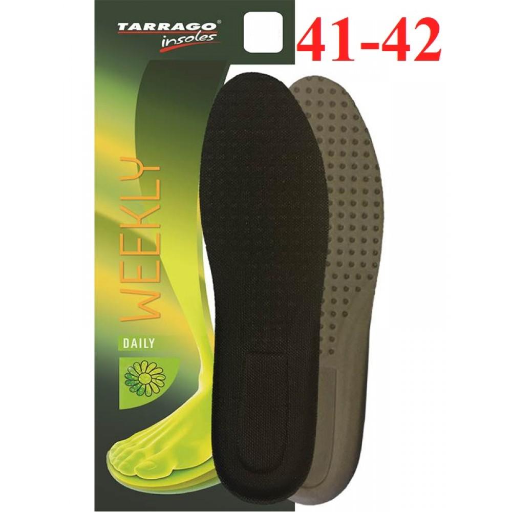 ID1711 Гигиенические гипоаллергенные стельки Tarrago Weekly, размерный ряд